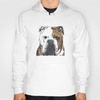 english bulldog Hoodies featuring English Bulldog  by ali_grace_gal