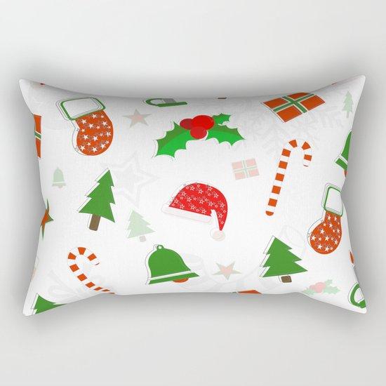 Christmas Pattern #2 Rectangular Pillow