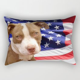 American Pitbull puppy Rectangular Pillow
