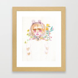 Harajuku Flowers Framed Art Print