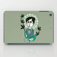 writer iPad Cases featuring Rimbaud Holy Writer by roberto lanznaster