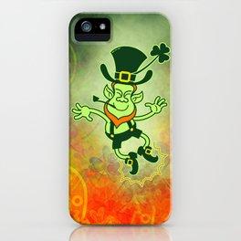 Leprechaun Clapping Feet iPhone Case