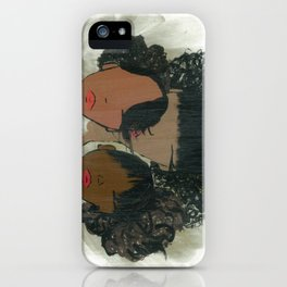 Afro Puff Girls iPhone Case