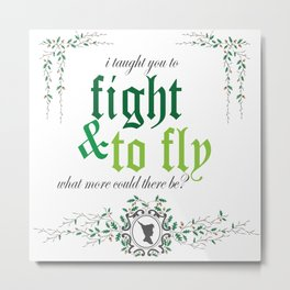 Fight & Fly Metal Print
