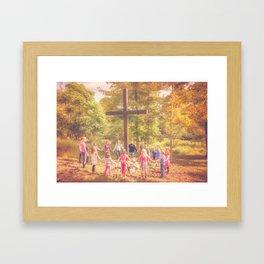 Gather At The Cross Framed Art Print