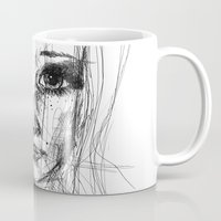 leah flores Mugs featuring LEAH by EDEN