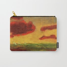 Sailing Yachts on the High Seas at Sunset nautical landscape by Emil Nolde Carry-All Pouch