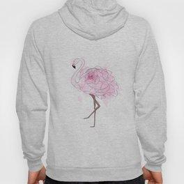 Pink Rose Flamingo Hoody