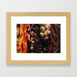 Chiles at La Boqueria in Barcelona, Spain Framed Art Print