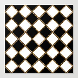 Geometric ornament gold seamless pattern Canvas Print
