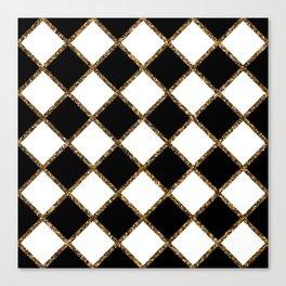 Geometric ornament gold seamless pattern Canvas Print