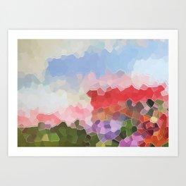 Abstract Pixel World 1 Art Print