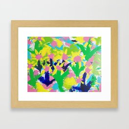Impressionistic Daisies in the Garden Framed Art Print