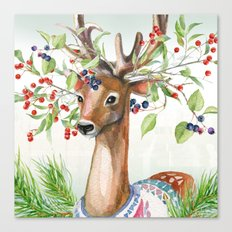 Winter animal #4 Canvas Print