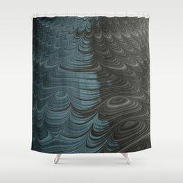 Charcoal Crust - Fractal Art Shower Curtain