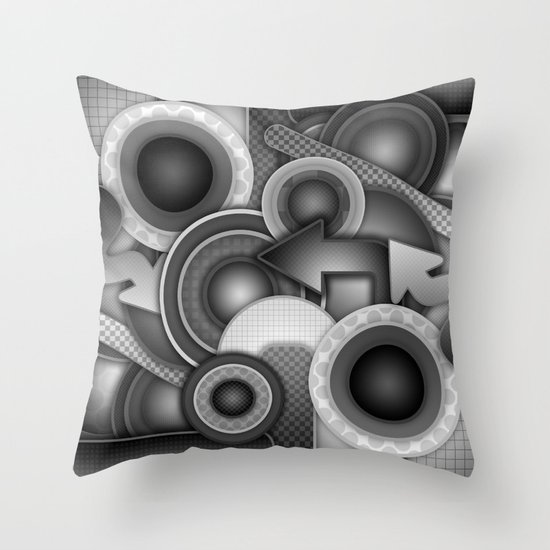 Monochrome Mayhem  Throw Pillow
