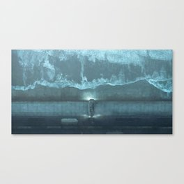 Building the Wall Canvas Print