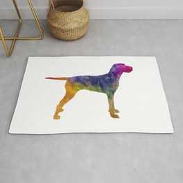 Hungarian Wirehaired Vizsla in watercolor Rug