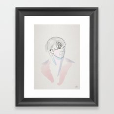 One line Marty mc Fly Framed Art Print