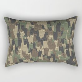 Camouflage cats Rectangular Pillow