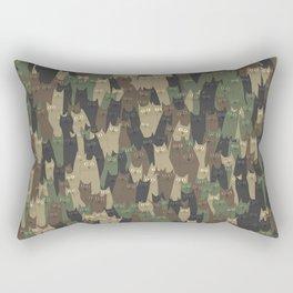 Camouflage cats Rectangular Pillow