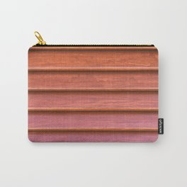 Red colored wooden texture of old shutter Carry-All Pouch