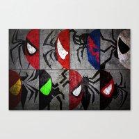 verse Canvas Prints featuring Spider-Verse by JordanJBDesigns