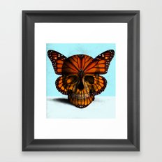 SKULL (MONARCH BUTTERFLY) Framed Art Print