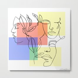 Prismacolor and Overlap Metal Print