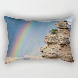 Duck on a Rock Rainbow Rectangular Pillow