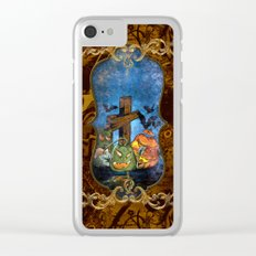 Funny halloween design Clear iPhone Case