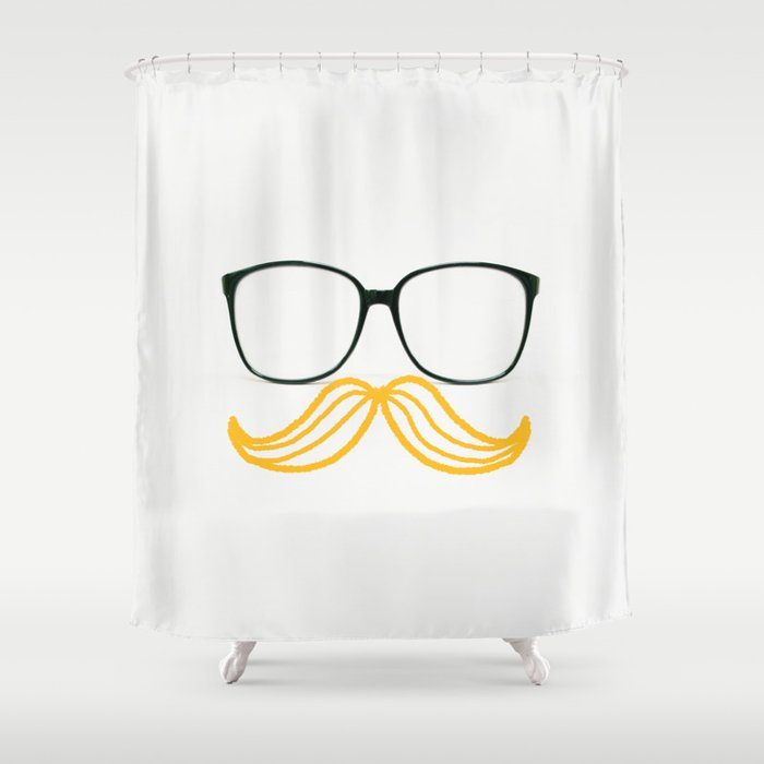 Spectacular Mustache Shower Curtain by lostnfoundstudio | Society6