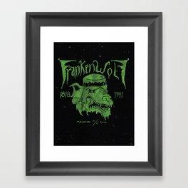 FrankenWolf Framed Art Print