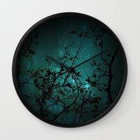 night sky Wall Clocks featuring Night Sky by ANNA