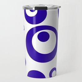 Circles Dots Bubbles :: Blueberry Inverse Travel Mug