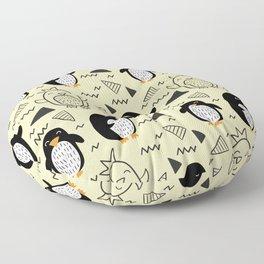 penguin doodle pattern Floor Pillow