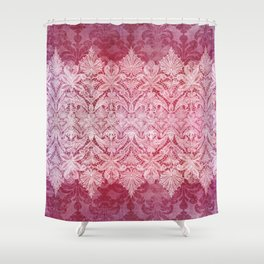 ABERDEEN HEIRLOOM, LACE & DAMASK: REBECCA'S RED Shower Curtain