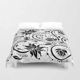 Abstract floral ornament Duvet Cover