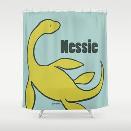 Nessie - The Loch Ness Monster (green) Shower Curtain