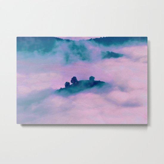 Forest land fog Metal Print