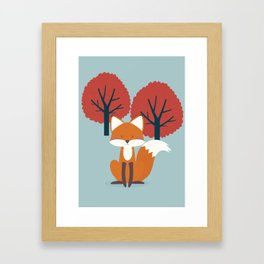 Foxy Friend Framed Art Print