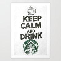 starbucks Art Prints featuring Starbucks by jrgff