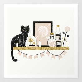 Magical Little Shelf Art Print