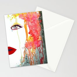 Angry Girl Stationery Cards
