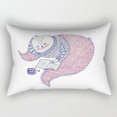 lazy saturdays Rectangular Pillow