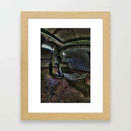 The real seat of horror Framed Art Print