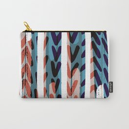 Painted Chevrons - Sarah Bagshaw Carry-All Pouch