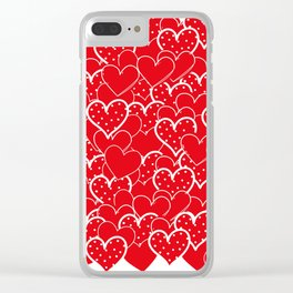 Valentine's background Clear iPhone Case