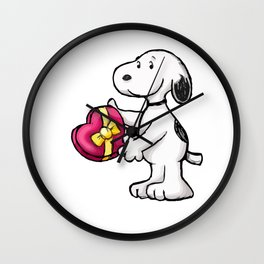 Snoopy Love Wall Clock