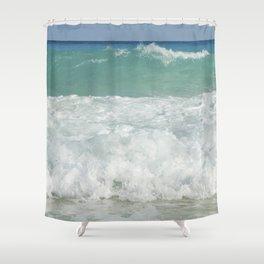 Carribean sea 9 Shower Curtain